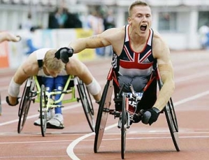 a disabled athlete